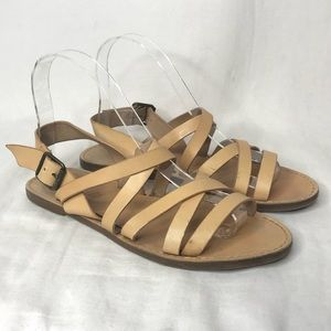 Madewell Boardwalk Multistrap Sandals Natural Buff